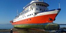 Armada trabaja en rescate de 120 pasajeros del buque Skorpios II varado en el mar