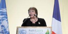 """Bachelet pide un acuerdo """"más ambicioso, universal, diferenciado y vinculante"""""""