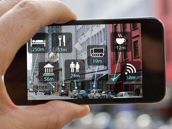 Imagen de realidad aumentada en teléfono inteligente