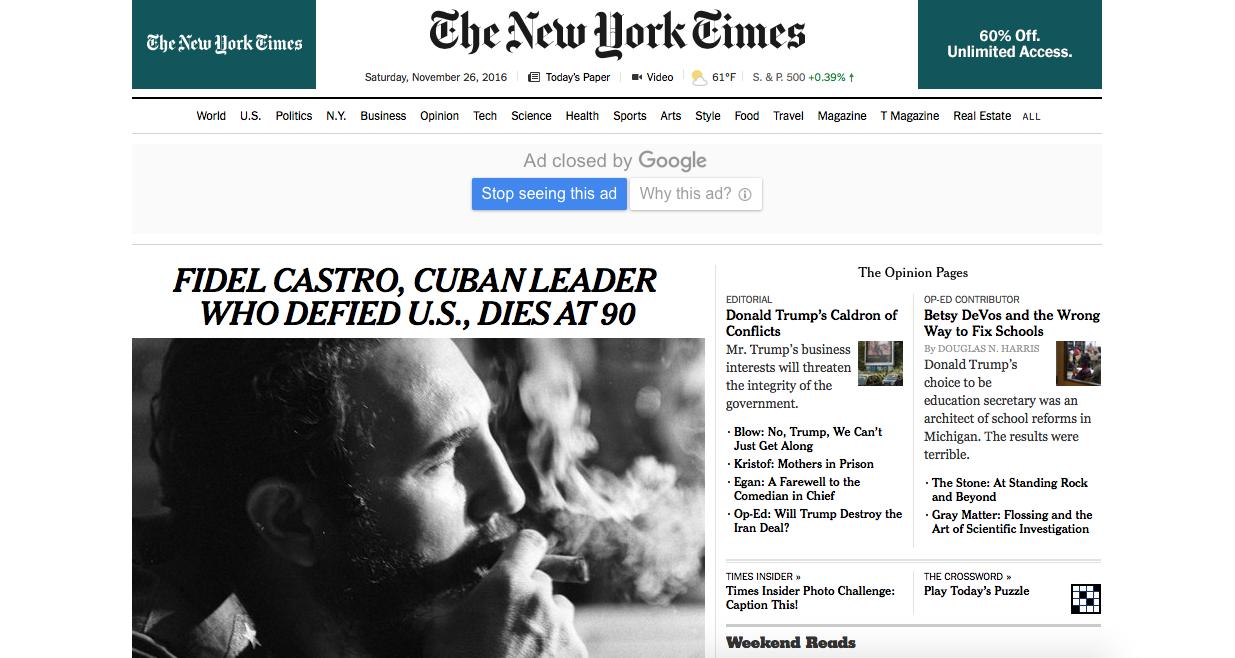Diego Maradona y el emotivo adiós a Fidel Castro