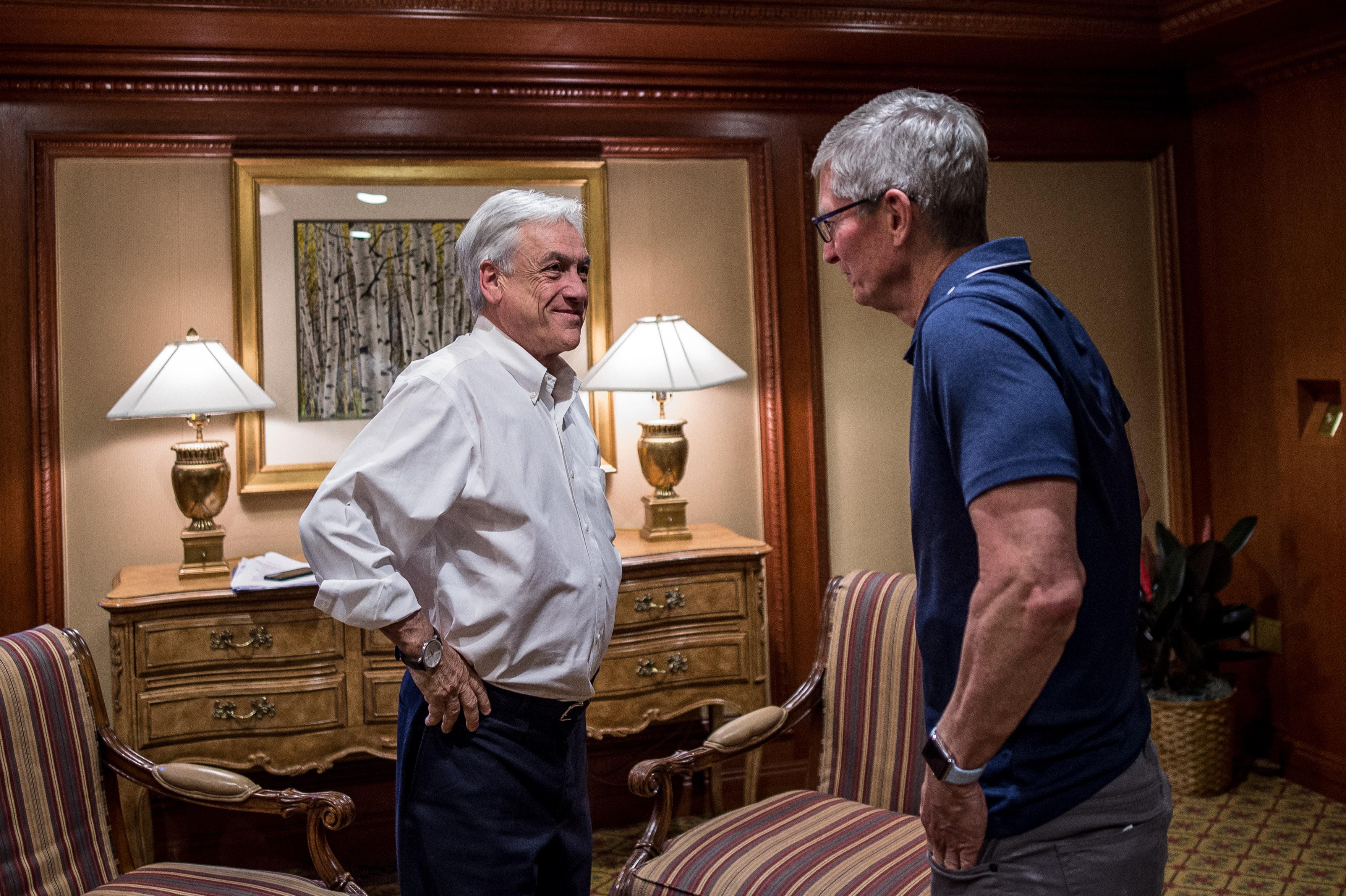 Piñera se reúne con principales líderes digitales de Amazon, Google ...