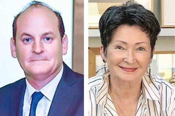 Mario Gazitúa Presidente asociación de aseguradores. Alejandra Cox Presidenta asociación de AFP.